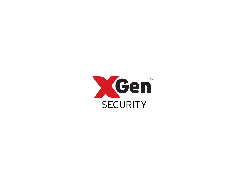 Xgen Security Logo over a Server banner