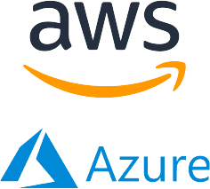 AWS and Azure logos