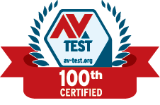 AV Test 100th Certified