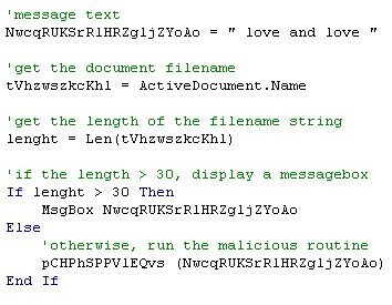 Figure 4. Code checking filename
