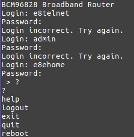 Figure 5. Login attempts to a broadband router