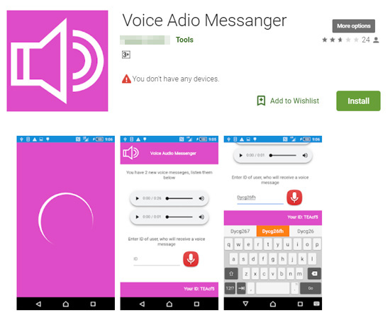 botnet fake voice messenger app google play_1