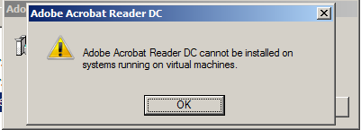 Figure 7. A supposed Adobe Acrobat Reader DC pop-up window