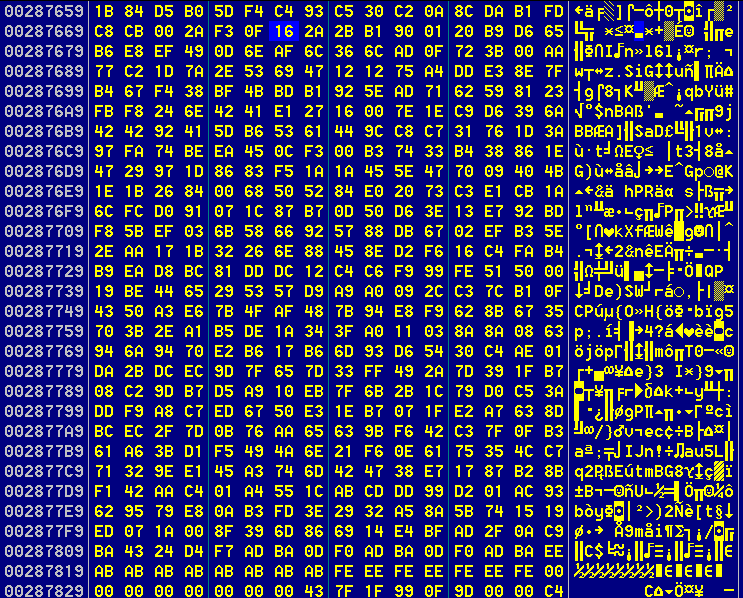 Figure 27. Encrypted data