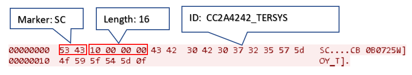 Figure 20. ID message example