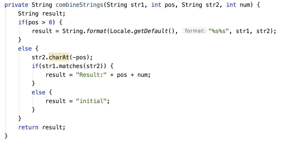 Newer version of combineStrings() method