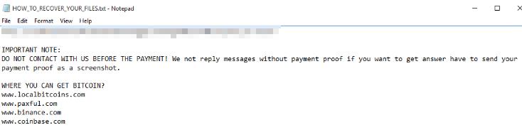 The AlumniLocker ransom note