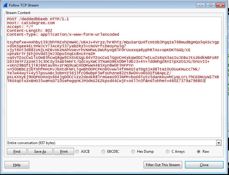 C2 beaconing HTTP traffic