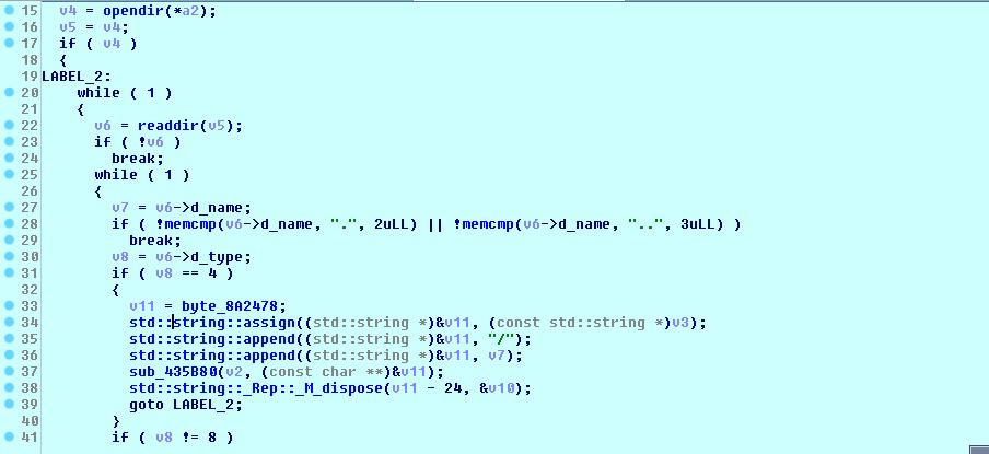 Linux variant looping across files/directories