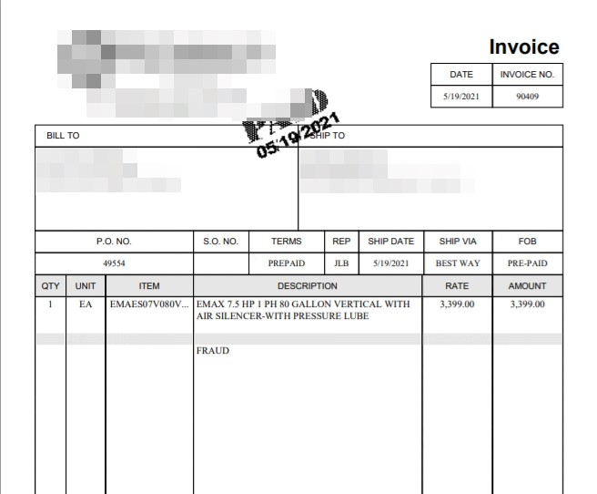 Figure 2. Screenshot of the PDF document sent to the targeted victim