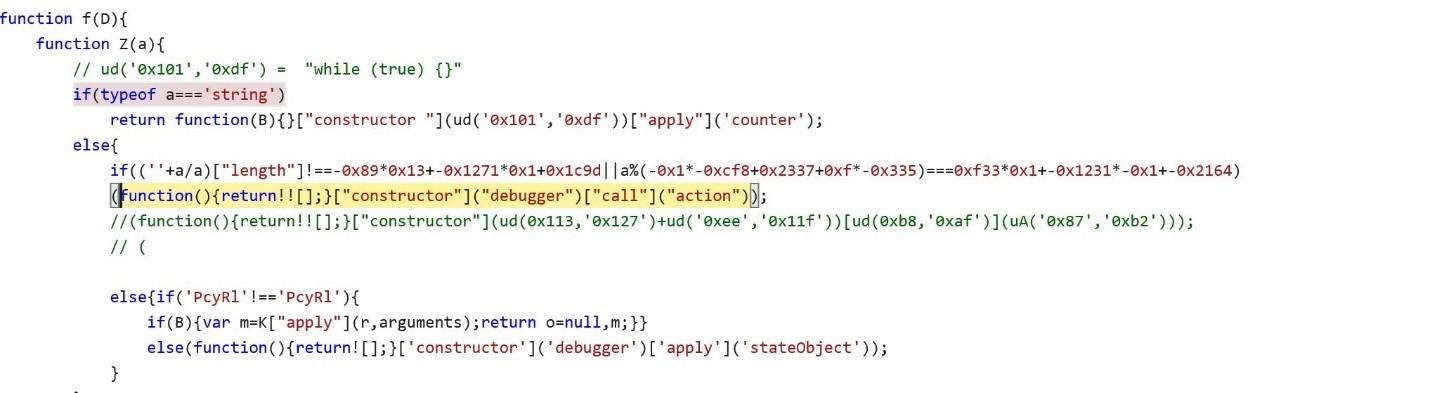 FormBook exploit JavaScript anti debugging