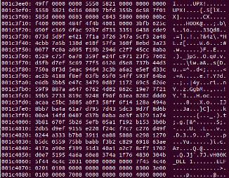 Another binary appended to the file