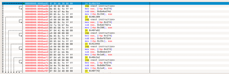 Obfuscated control flow full of (conditional) jumps