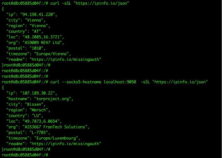 The campaign installs and uses the Tor proxy service to anonymize malicious connections