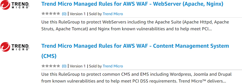 aws wafマネージドルール trend micro managed rules for aws wafのご